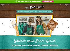 The Rustic Brush homepage screenshot