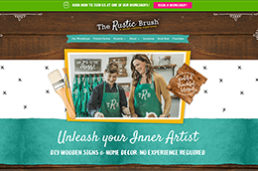 The Rustic Brush homepage screenshot